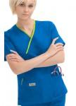Pijama-Sanitario-Mujer-Azul-Linea-Verde-2