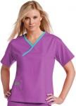 Pijama Sanitario Mujer Morado Linea Azul