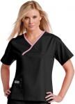 Pijama Sanitario Mujer Negro Linea Morada