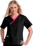 Pijama Sanitario Mujer Negro Linea Rosa