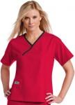 Pijama Sanitario Mujer Roja Linea Negra