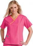 Pijama Sanitario Rosa Mujer con linea Naranja