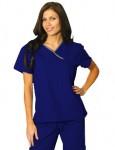 Uniforme Sanitario Mujer Azul Oscuro Linea Gris