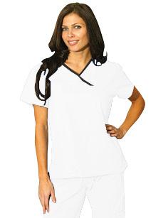 Pijama sanitario uniforme sanitario mujer blanco - Uniformes sanitarios modernos ...